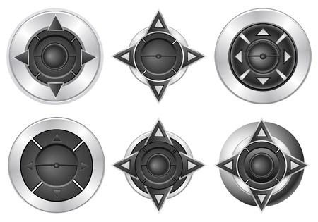 Modern multimedia player buttons set. Stock Vector - 10131977
