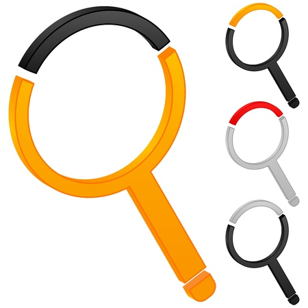 Magnifier icon on a white background. Vector illustration. Stock Vector - 10358393