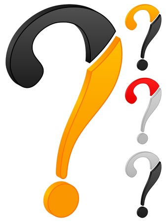 Question icon on a white background. Vector illustration. Vector