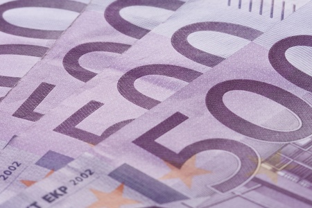 Close-up 500 euro banknotes background. Stock Photo - 10422203