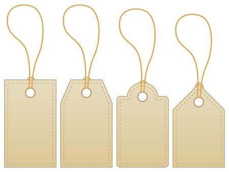 balise: Tag �tiquette vierge isol� sur fond blanc.