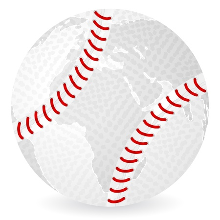 World map tennis ball on a white background royalty free cliparts world map baseball ball on a white background vector gumiabroncs Images