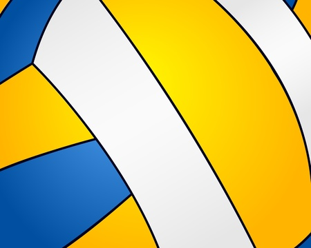 Volleyball ball background Vector