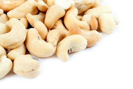 cashews: Cashews isolated on white background. Stock Photo