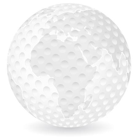 World map tennis ball on a white background royalty free cliparts world map golf ball on a white background vector illustration vector gumiabroncs Images