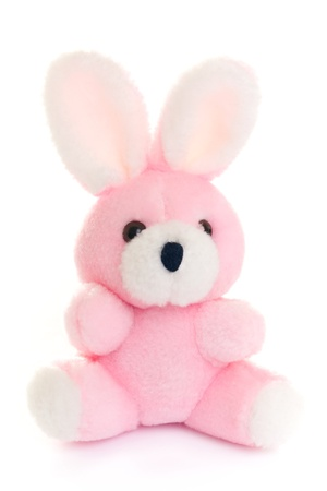 plush toy: Rabbit toy isolated on a white background.