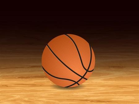 Baloncesto fondo de cancha. Ilustración del vector.