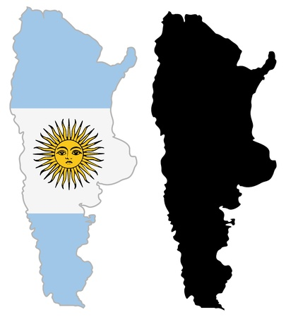 map of argentina: Argentina map flag on a white background. Vector illustrator.