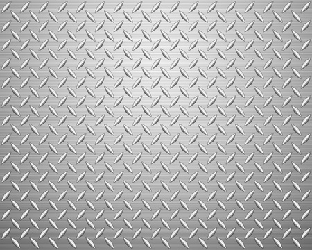 diamonds pattern: Metal texture background. Vector illustration.