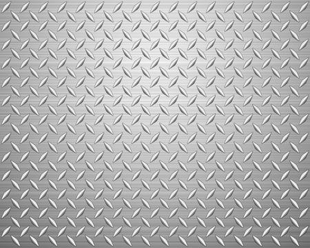 lamiera metallica: Metallo texture di fondo. Illustrazione vettoriale.