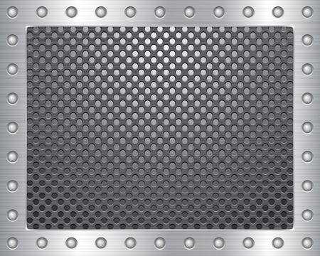 rivet: Металл фоне текстуры. Векторные иллюстрации.