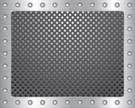 rivets: Metal texture background. Vector illustration.