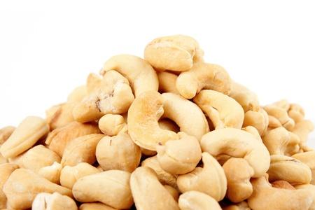 cashew nuts: Cashews isolated on white background. Stock Photo