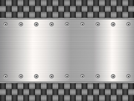 Motif d'illustration de fond en métal texture Vecteurs