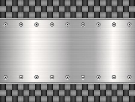 carbon fibre: Pattern of metal texture background illustration