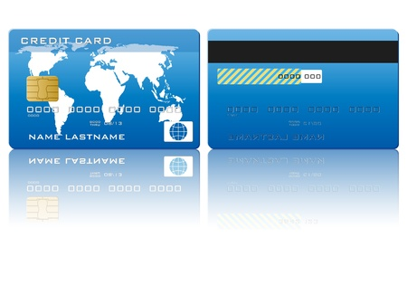Credit card on a white background  Vector illustration  Vector