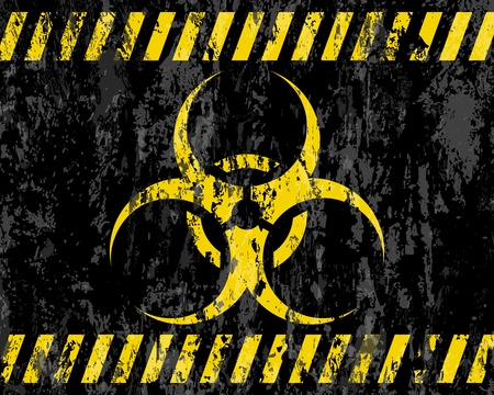 grunge biohazard sign background  illustrator  Stock Vector - 12494645