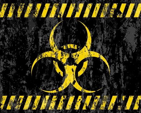 riesgo biologico: grunge signo de riesgo biol�gico de fondo ilustrador