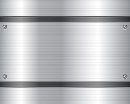 on metal: Ilustraci�n de metal textura de fondo Vectores