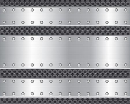 Metal texture background  illustration Stock Vector - 12494776