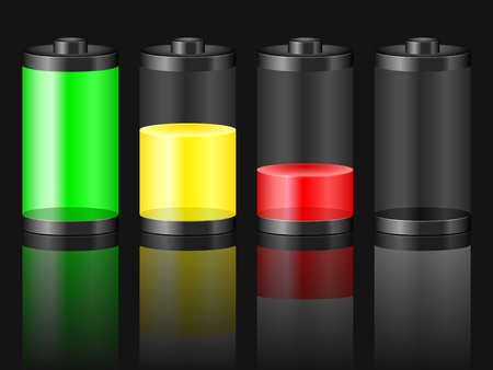 Battery with the level of charge  Vector illustration  Vector