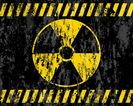 radioactive: grunge radiation sign background  Vector illustrator