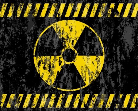 radioactive symbol: la radiaci�n de fondo del grunge signo vector ilustrador