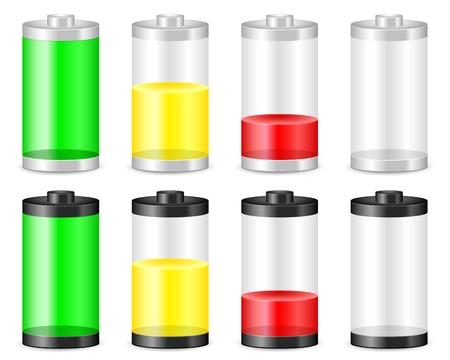 lading: Batterij met het niveau in het hotel, Vector illustratie