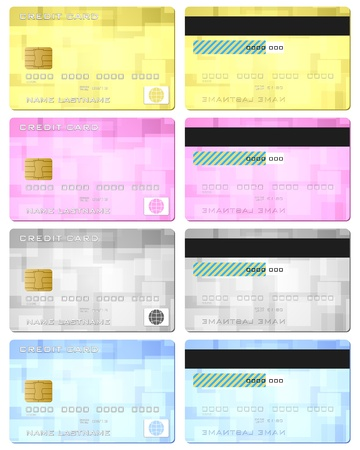Credit card set on a white background  Vector illustration Stock Vector - 12832114