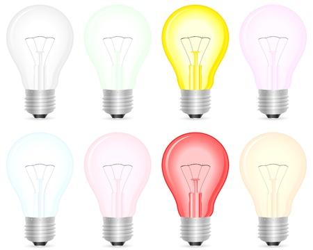 wolfram: Light bulb on a white background  Vector illustration