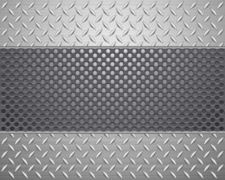 Pattern of metal texture background Vector illustration  Stock Vector - 12832110