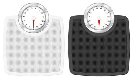 Bathroom scale set on white background. Vector illustration. Stock Vector - 13023126