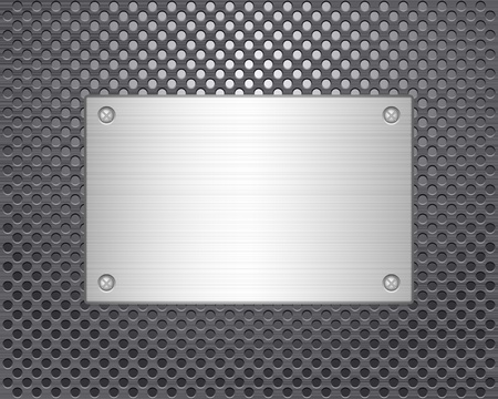 Metal texture background  Vector illustration  Vector