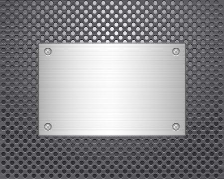 Metal texture background  Vector illustration Stock Vector - 13023127