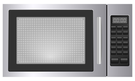 stoves: Microwave on white background  Vector illustration  Illustration