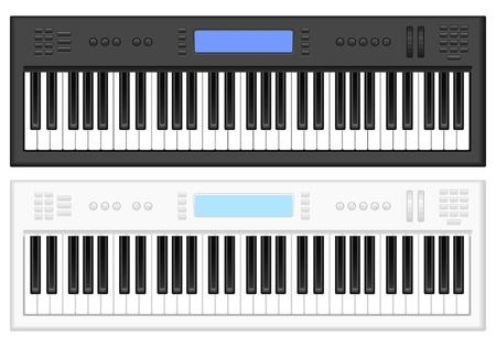 Synthesizer on white background illstration
