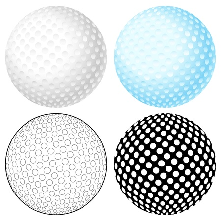 play ball: Golf ball set isolated on a white background  Vector illustration  Illustration