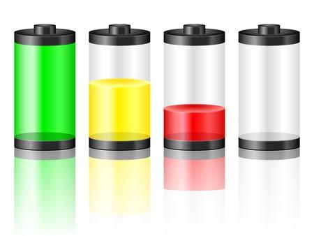 piles: Batterie avec le niveau de Vector illustration de charge Illustration