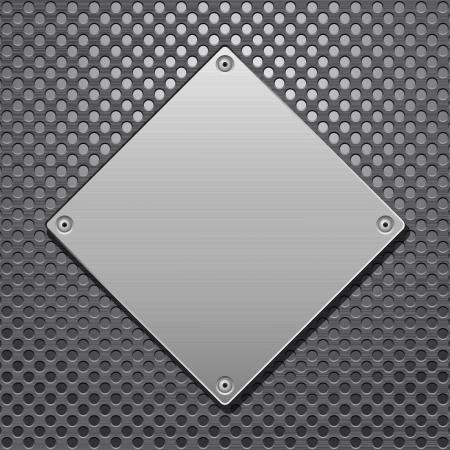 Pattern of metal texture background Vector illustration Stock Vector - 14006601