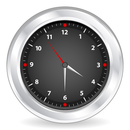 Clock isolated on white background  Vector illustration Stock Vector - 14006586
