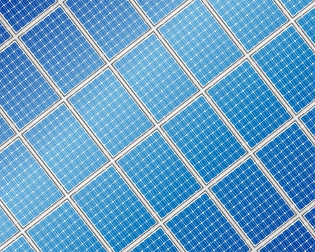 Blue solar panel detailed background  Vector illustration  Vector