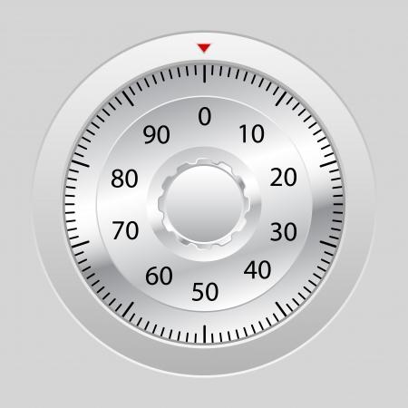 Combination lock on grey background  Vector illustration  Vector