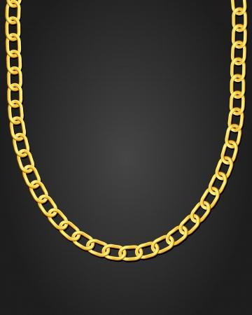 Collar de oro de la ilustración vectorial de fondo negro