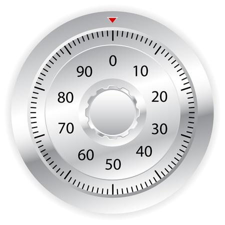 Combination lock on white background  Vector illustration Stock Vector - 14161968