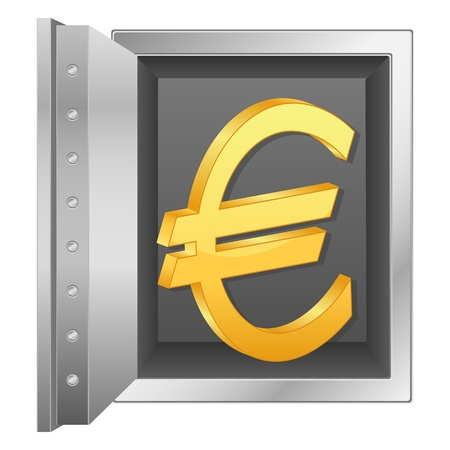 Bank safe with euro symbol Stock Vector - 14482512