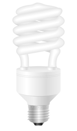 Energy saving light bulb on a white background Stock Vector - 14482514
