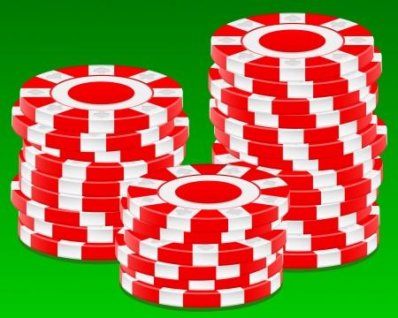Stack chips on green background  Vector illustration  Vector