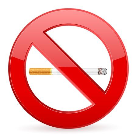 no fumar: Muestra de no fumadores en una ilustraci�n de fondo blanco