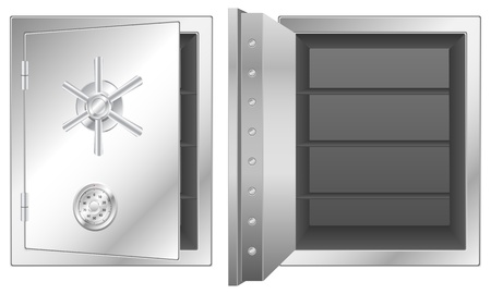 Bank safe isolated on white background Stock Vector - 15158570