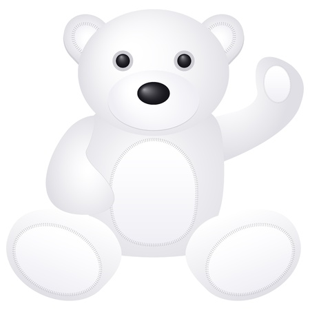 Teddy bear toy on a white background Stock Vector - 15282755